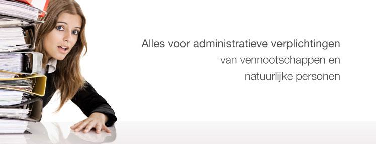 Alles voor administratieve verplichtingen van vennootschappen en natuurlijke personen.